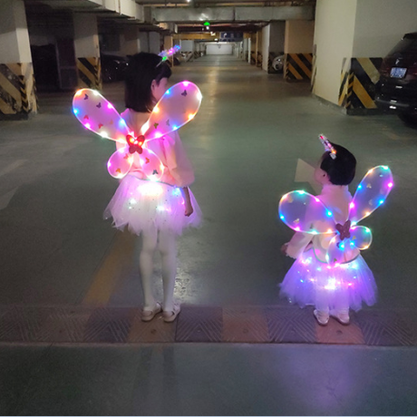led shining angel wings