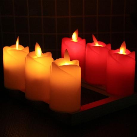 Weddings Decoration LED Rose Simulated Candle flame dance