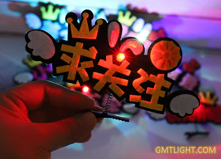 multi color logo hairpin headdress for promotion