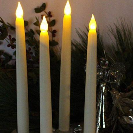 Led remote control electronic slender candle lamp long candle lamp simulation electronic candle lamp