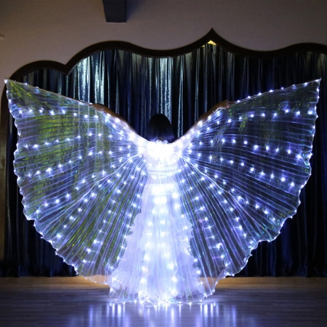 LED light up bally dance prop decorative wing classical design (YC-002P)