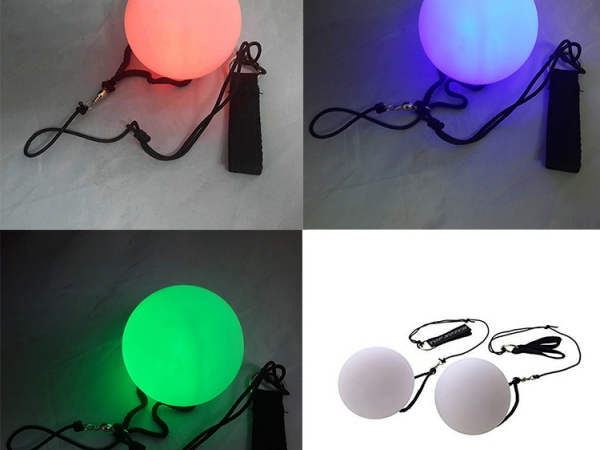 New Mixed plastic Color Fitness Flash Ball For Sports