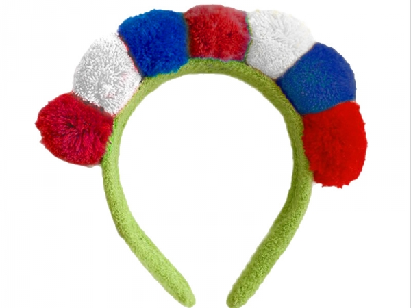 Plush France Flag style headband