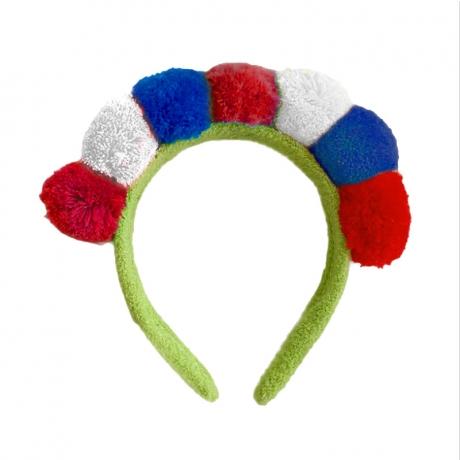 Plush France Flag style headband