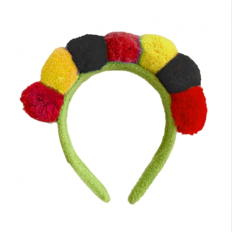 Customized color for plush ball Germany Flag headband