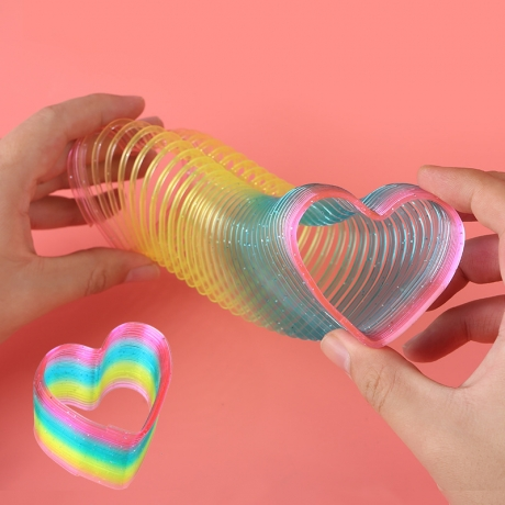 LED luminous heart shape rainbow spring