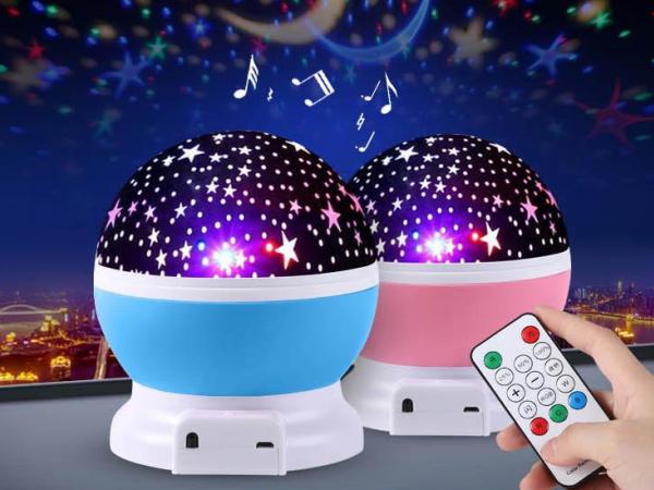 seven color dream speaker rotating star projection lamp