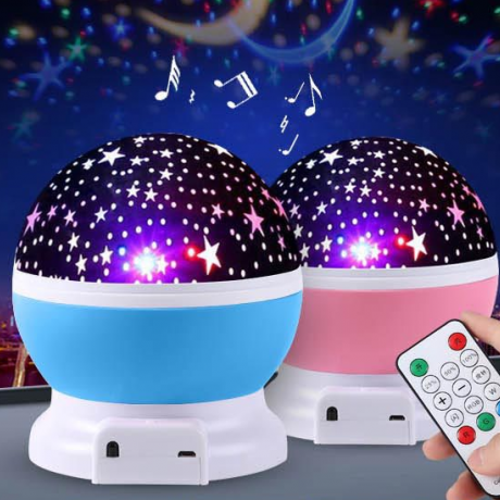 seven color dream speaker rotating star projection lamp