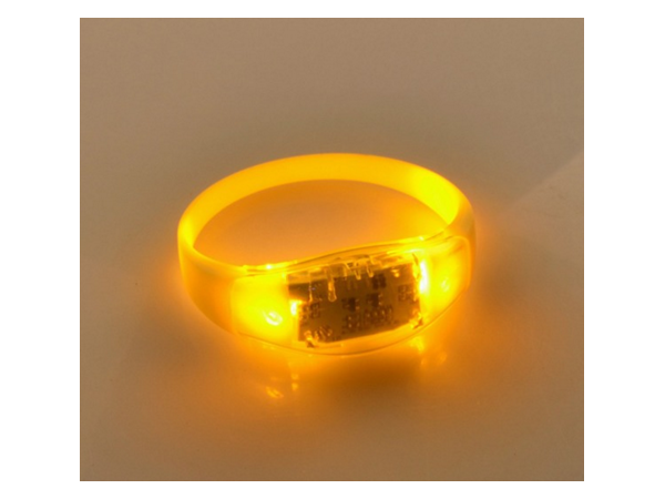 Sound control LED flash silicon rubber ring bracelet