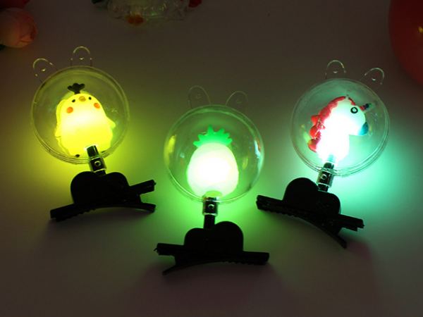 Luminous soft rubber Bobo ball hairpin ornament
