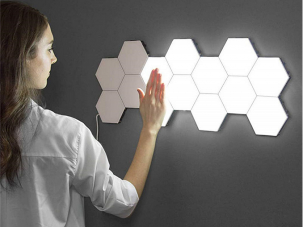 led honeycomb free diy assembling lamp