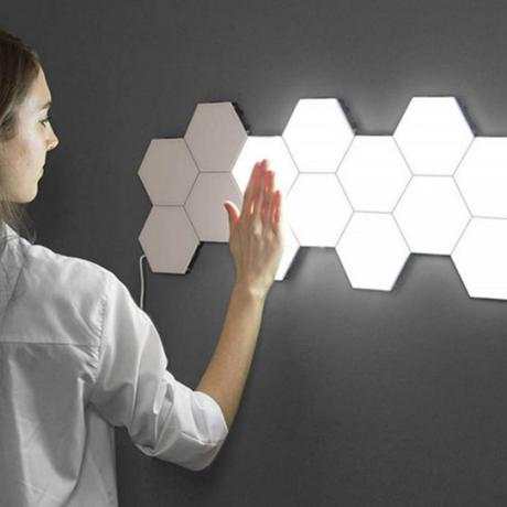 led honeycomb free diy assembling lamp