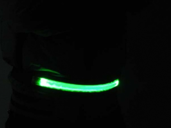 Safety warning instruction luminous led flash belt