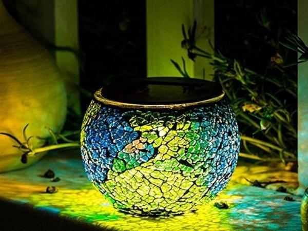 Garden Glass Ball Decoration Lamp Solar charged Mosaic glass lamp