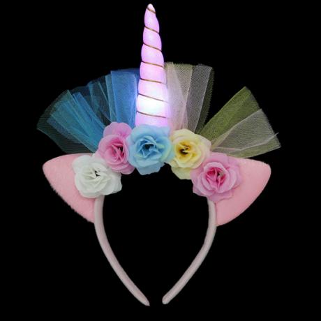 Luminous Unicorn single horn hairband Unicorn