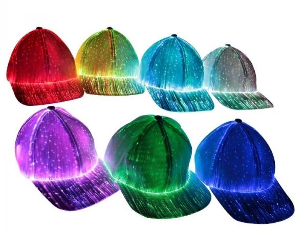 Glowing Baseball Fiber Optic Hat