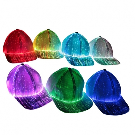 Glowing Baseball Fiber Optic Hat