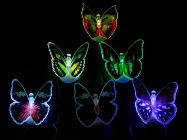 Decorative LED flash colorful butterfly
