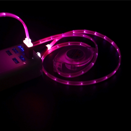 Luminous telescopic data cable