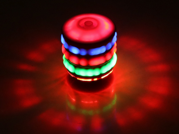 Colorful flash light music top gyroscope