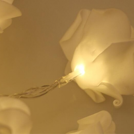 Luminous rose lamp string for wedding