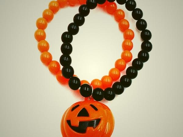 LED Big Pumpkin Pendant Bracelet