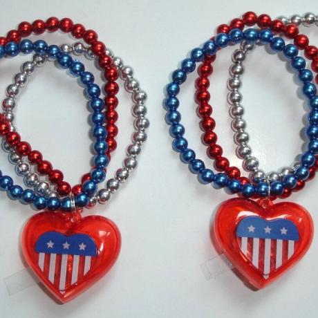 US National Day LED Pentagram Bracelet
