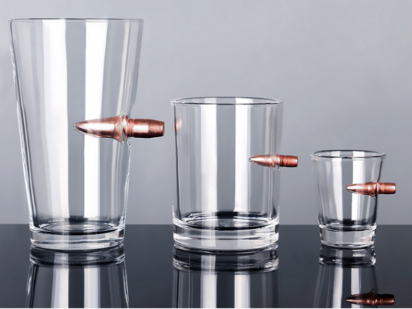 American soldier bullet glass
