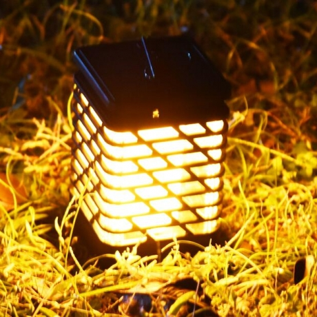 Natural light - solar outdoor flame lamp