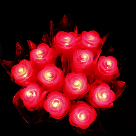 LED luminous roses