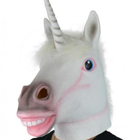 Latex Unicorn horse mask