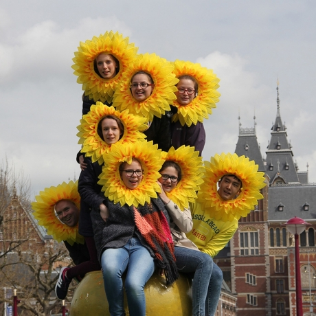 Event cheer cheerleading use Sunflower head wreath (HL-028)