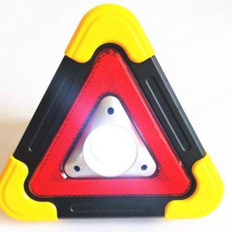 Solar charging LED light triangle warning emergency light