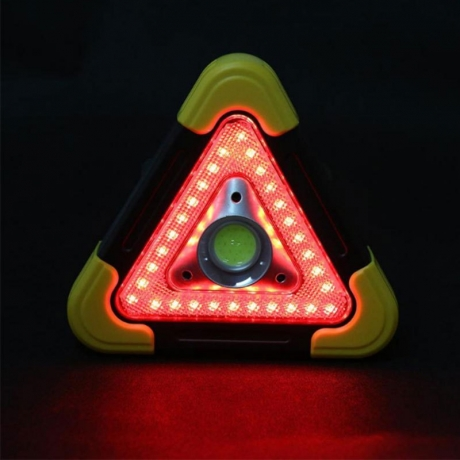 Triangle traffic safety warning light (B0030)