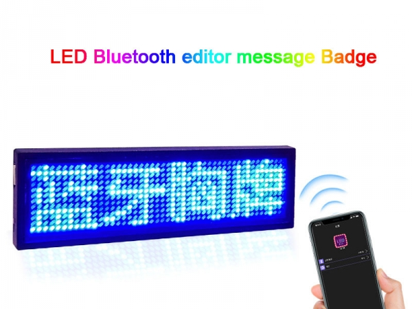 Bluetooth APP Programmable LED editable message badge
