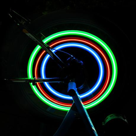 Bicycle safety spoke wheel lamp