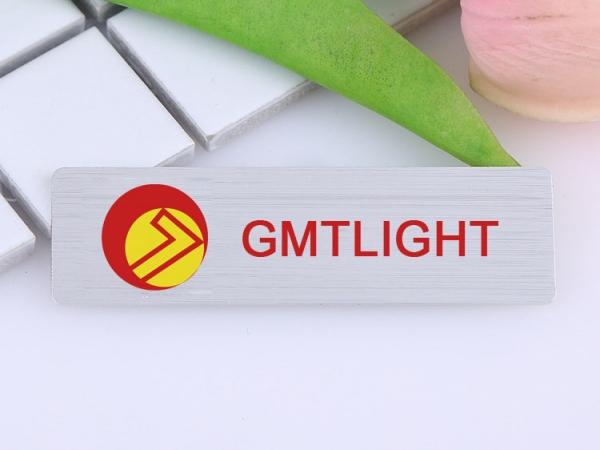 Metal Engraving LOGO Stainless Steel Laser Engraved Name Badge With Pin