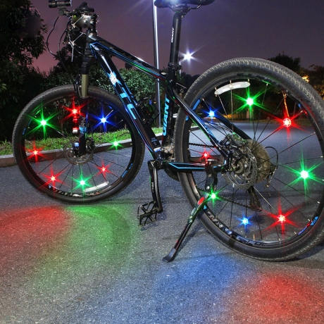 luminous LED Bike light wheel spokes strip bicycle lights