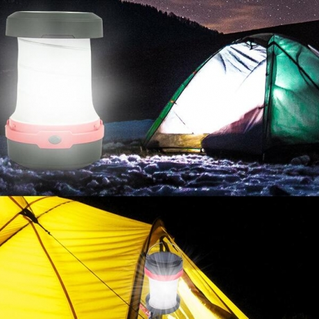 Solar powered retractable Mini Tent Light