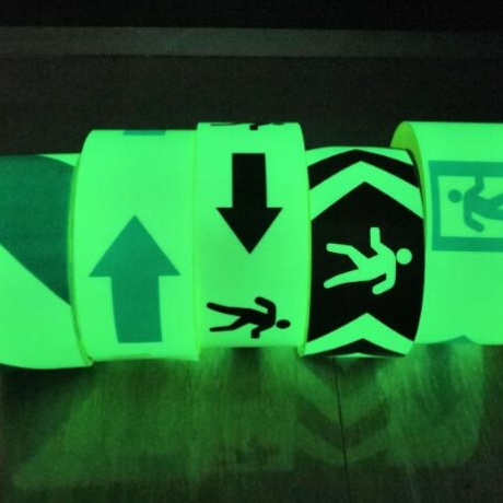 Luminous safety warning tape