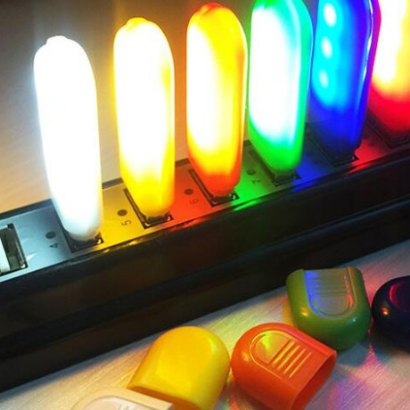 USB small night lights in various colors