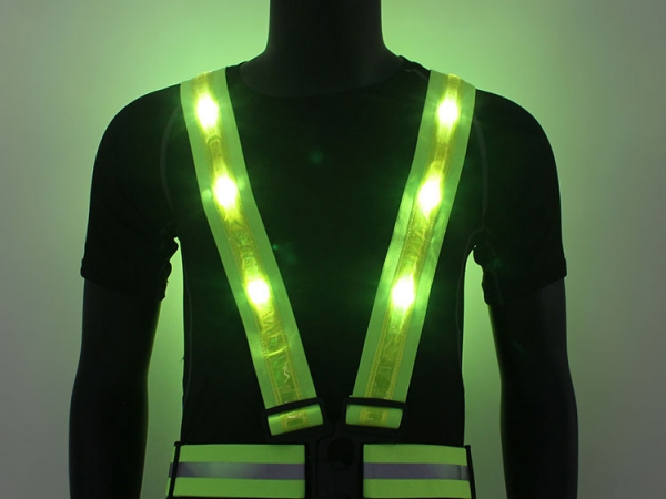 Outdoor safety LED flashing waring light reflective vest (JY-42)