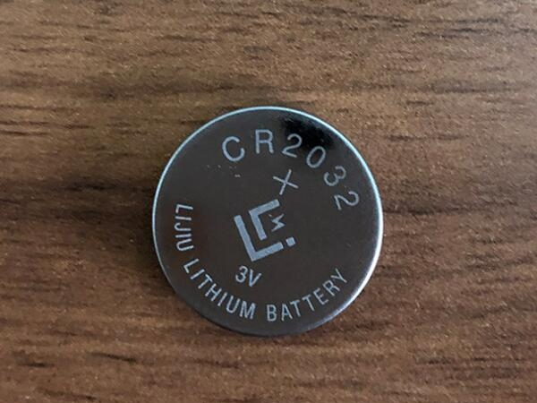 CR2032 button cell battery