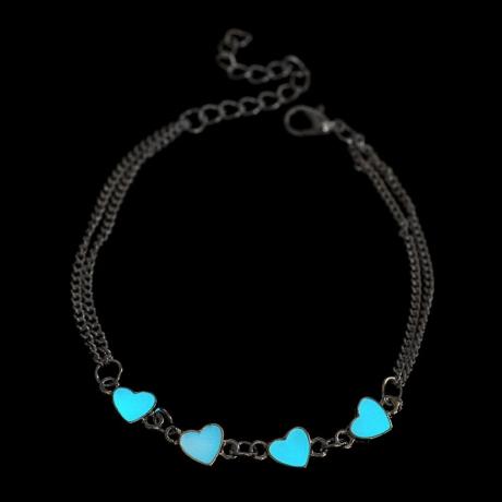 Women Jewelry bangle Glow In The Dark Charm alloy Bracelet