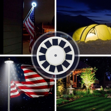 Solar Flag Light Flagpole Lamp Solar Powered Outdoor Lamp