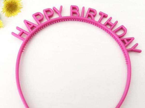 Happy birthday message plastic band OEM