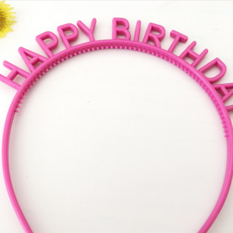 Happy birthday message plastic band OEM