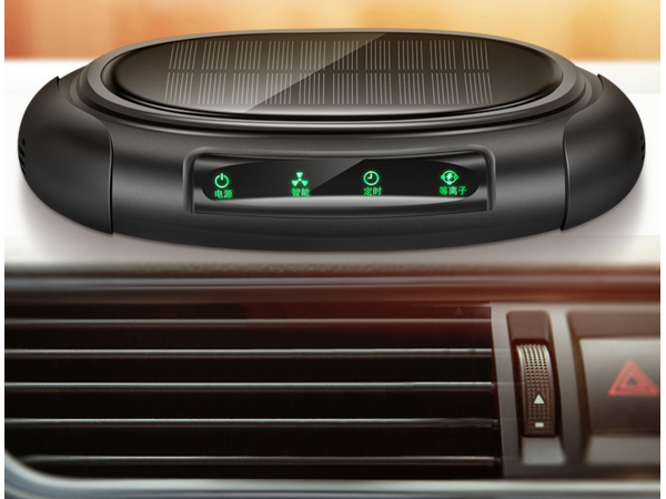 Solar anion air purifier for automobile