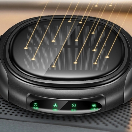 Negative Ion USB solar charging car air purifier (No.: AP-004)