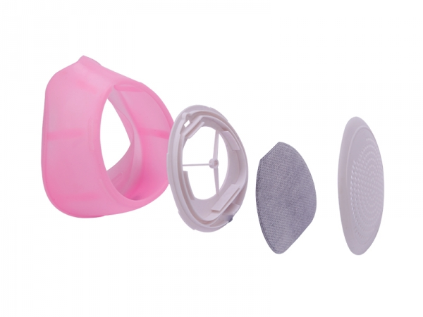 Replaceable filter cotton silicone five layers N95 mask